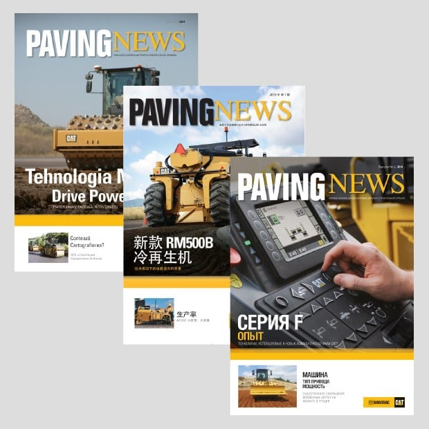 Caterpillar Paving News Covers - Creative Agency Kent