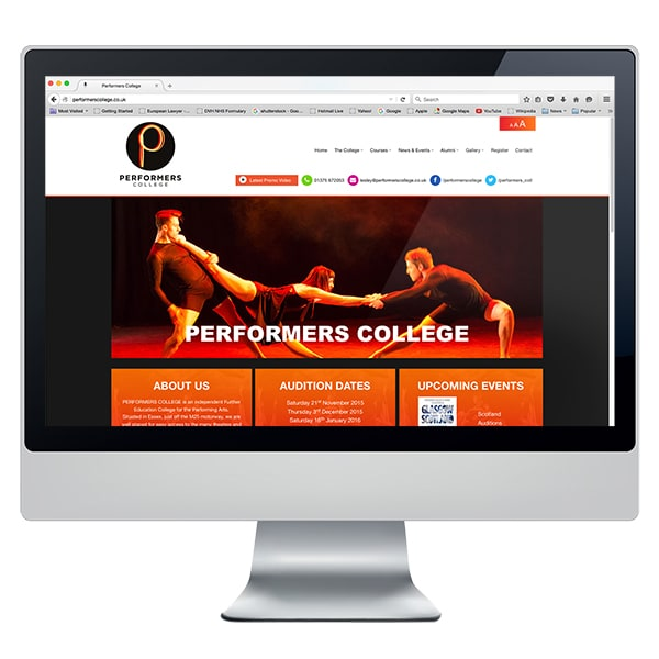 Performers Ipad Mockup Website Design Development - Creative Agency Kent