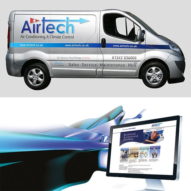 Airtech Van Livery and Website Mockup - Creative Agency Kent