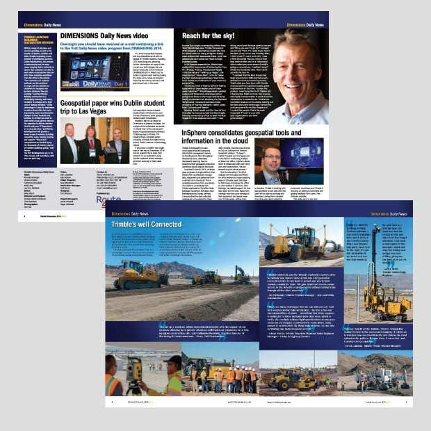 Dimensions Daily News Publication Spreads - Creative Agency Kent
