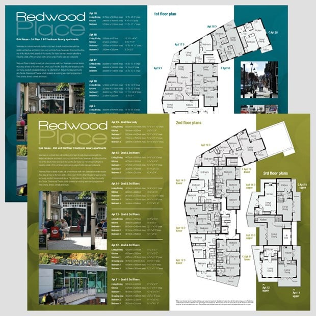 Hillreed Spreads Design for Print Property Brochure - Creative Agency Kent