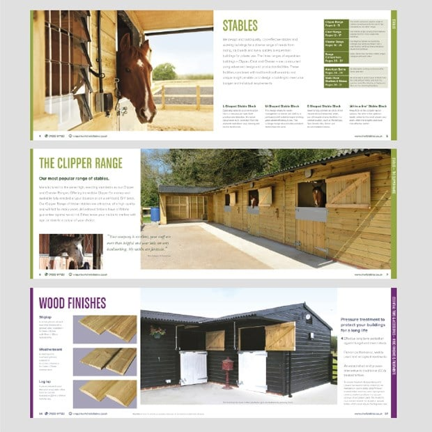 Stables Brochure Design for Print Spreads - Creative Agency Kent