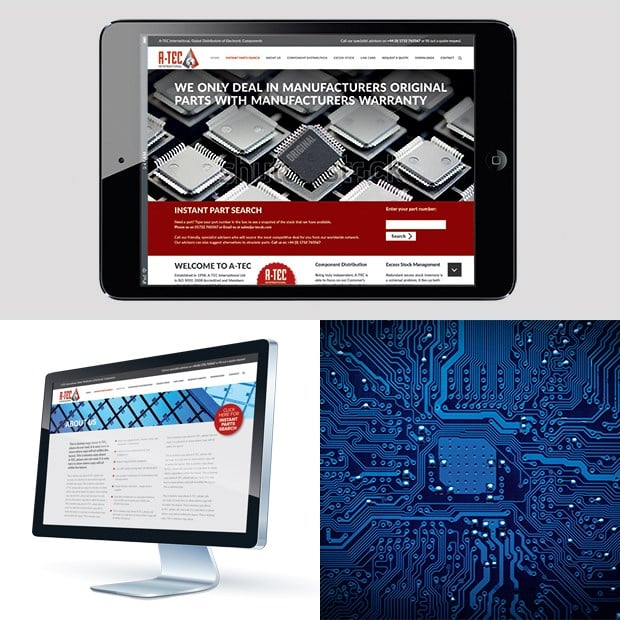 Atec Ipad and Mac Mockups Website Design & Development - Creative Agency Kent