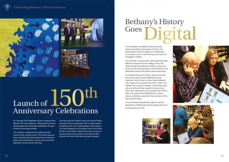 Bethany Spread Design for Print Example - Creative Agency Kent