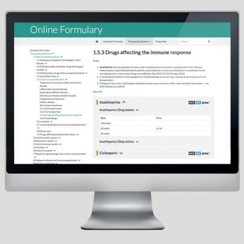 Formulary Screenshot Web Based Application
