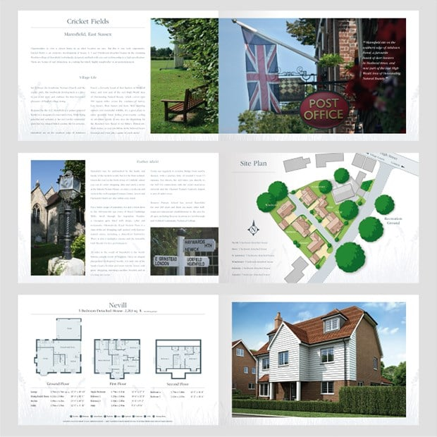Monro Homes Brochure Design for Print Spreads - Creative Agency Kent