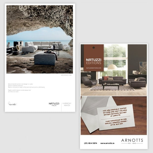 Natuzzi Ads Design for Print - Creative Agency Kent