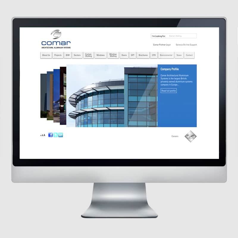 Comar Web Design Agency Screenshot 2 - Design Agency Kent - Web Design