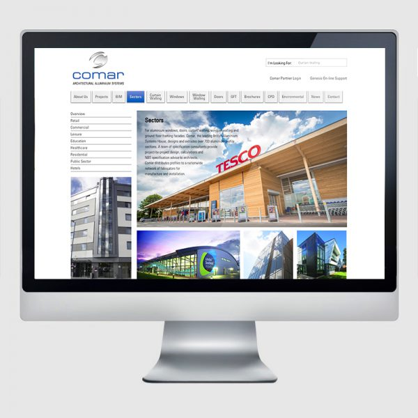 Comar Web Design Agency Screenshot 1 - Design Agency Kent - Web Design