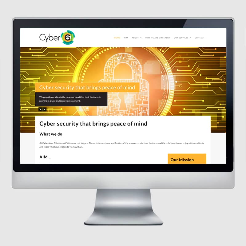 Cyber 6 Web Design Agency Screenshot 2 - Design Agency Kent - Web Design