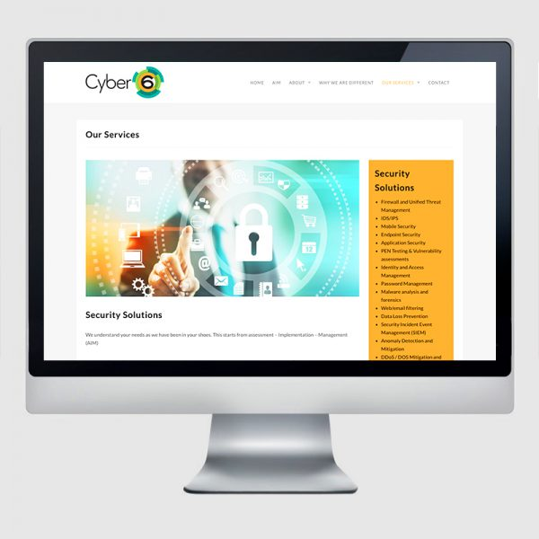Cyber 6 Web Design Agency Screenshot 1 - Design Agency Kent - Web Design