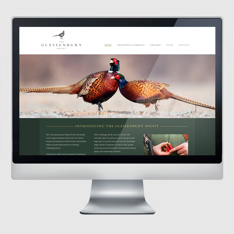 Glassenbury Web Design Agency Screenshot 1 - Design Agency Kent - Web Design